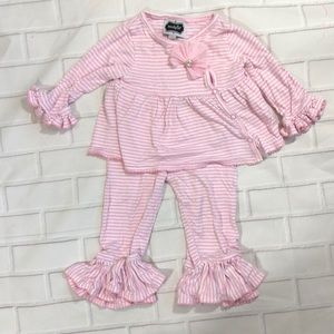 Mud Pie Pink Striped Outfit